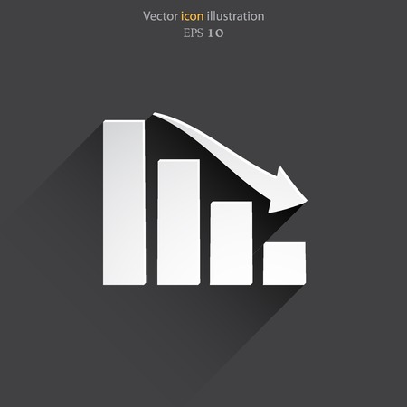 increment: Vector chart web flat icon.