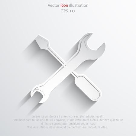 revamp: Vector repair web flat icon.  Illustration