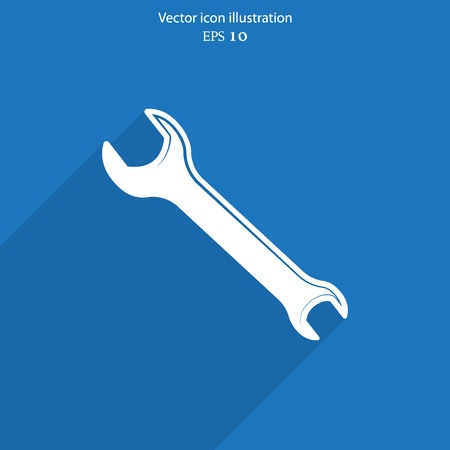 reconditioning: Vector repair web flat icon.