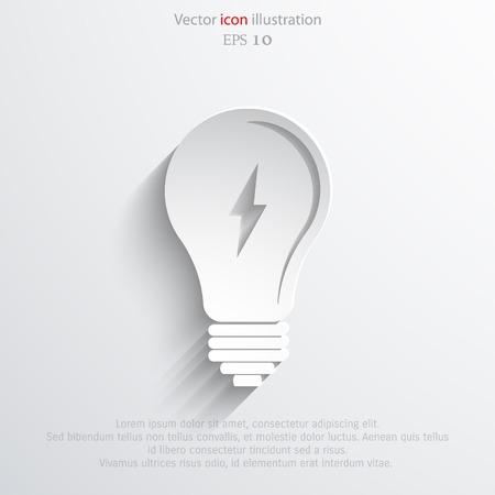 con: Light bulb flat webi con. Illustration
