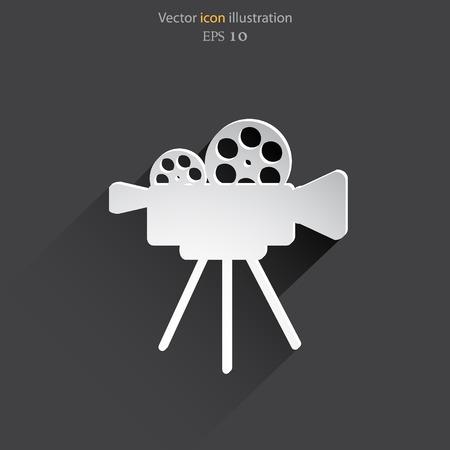 shoot: Vector camera web icon flat design.