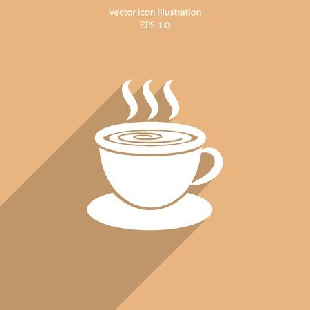 hot drink: Vector hot drink cup web icon.