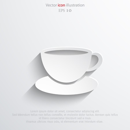 hot drink: Vector hot drink cup web icon.  Illustration