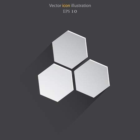 Vector honey cells web flat icon.