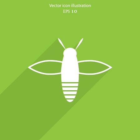 Vector bee web flat icon. Eps 10 illustration.