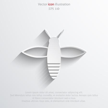 Vector bee web flat icon.  Ilustração