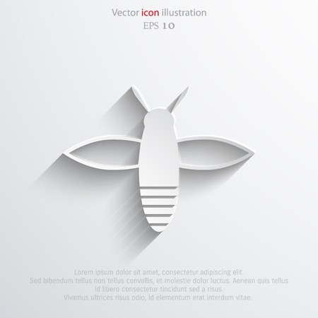 praiseworthy: Vector bee web flat icon.  Illustration