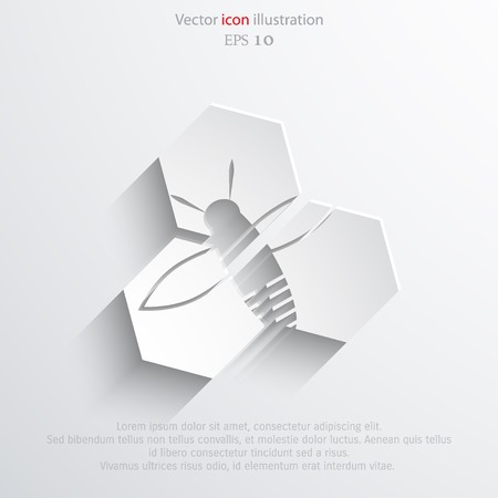 studious: Vector honey cells web flat icon. Eps 10 illustration.