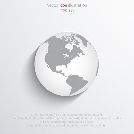 Vector globe flat web icon. Eps 10.