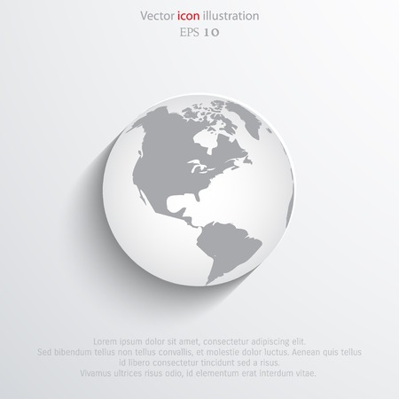 realist: Vector globe flat web icon. Eps 10.