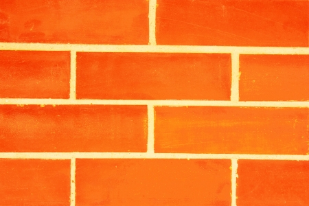 The newly built brick wall