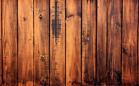 Walls made of wood are durable and beautiful  Stock Photo