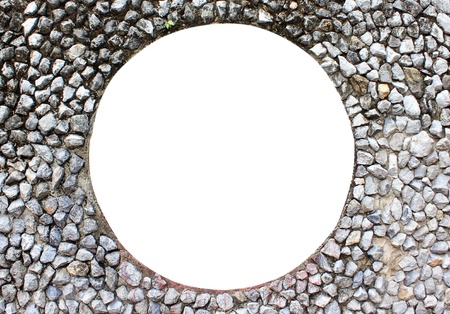 View Finder on stone wall