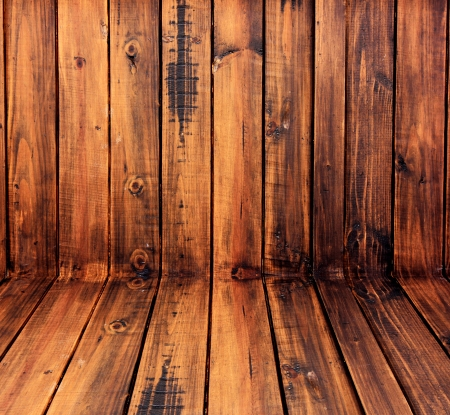durable: Walls made of wood are durable and beautiful  Stock Photo