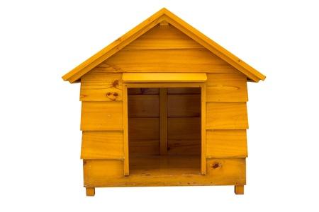 Dog Haus ist aus Holz Standard-Bild