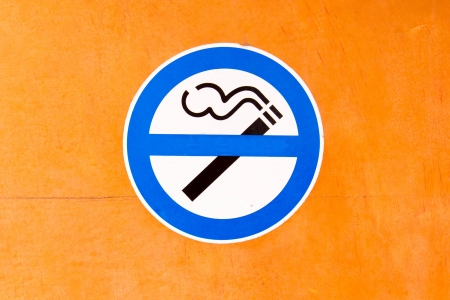 Sign no smoke on cafe Stock Photo - 16689629