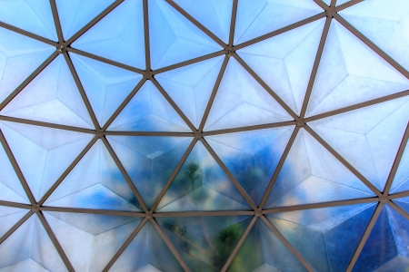 Dome roof for defense or synthesis light of sun. Stock Photo - 17033221