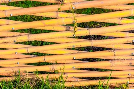 no pase: Redes de madera para hacer hay gente pasar esta �rea Foto de archivo