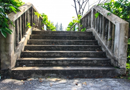 stairs make by cement it feel very strong