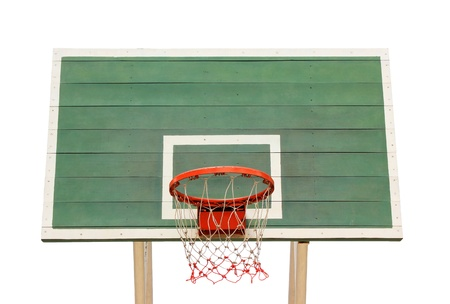 Basketball hoop isolated on white background Stock Photo - 17090351