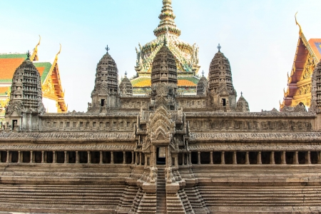 Angkor Wat model in phra kaew  build for people learning. Stock Photo - 17177321