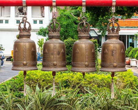 The bells in temple is believed that hit bells  has merit. Stock Photo - 17177342