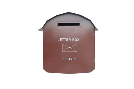 Letter box brown  made from steel is strong.