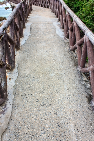 The side walk on beach for tourists
