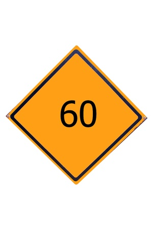 Sign number 60  have yellow for driver can see. Stock Photo - 17385775