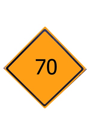 Sign number 70  have yellow for driver can see. Stock Photo - 17385757