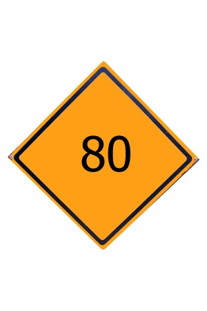 Sign number 80  have yellow for driver can see. Stock Photo - 17385794