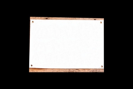 Sign white on wood for messages etc Stock Photo - 17385750