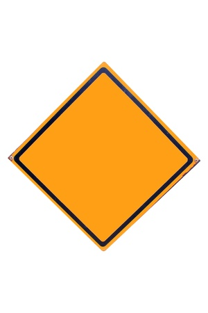 Street sign have yellow for people is drive car can see. Stock Photo - 17385731