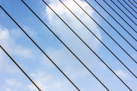 Cable of Rama VIII bridge and  sky  Stock Photo - 17603356