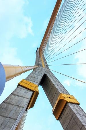 Rama VIII Bridge and sky it stay in bangkok thailand. Stock Photo - 17630864
