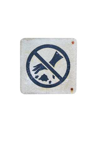 sign  prohibited  trash in pubilc park photo