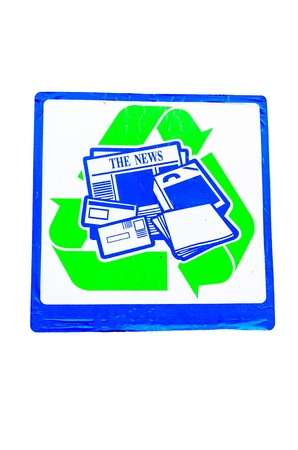 Sign trash paper for recycle in garbage plant. Stock Photo - 17768287
