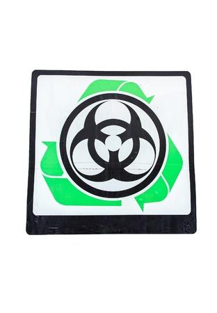 Sign Bio danger in garbage plant for item danger. Stock Photo - 18139529