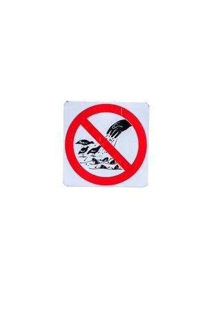 SIgn no to food bird in garden photo