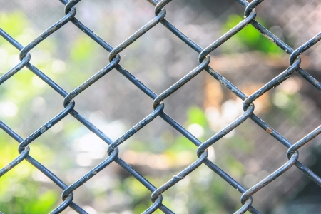 Cage net in zoo for coop animals Stock Photo