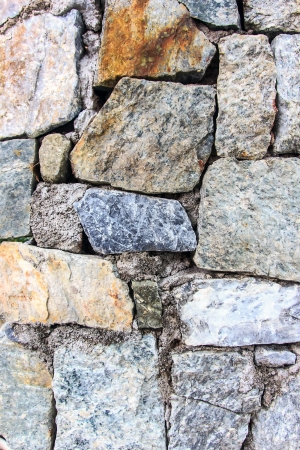 The wall make from stone and rock. photo