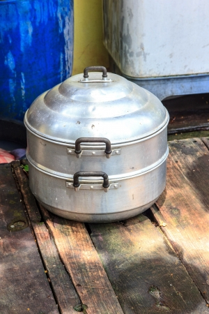 Steamer for make asiai food it use by people long time