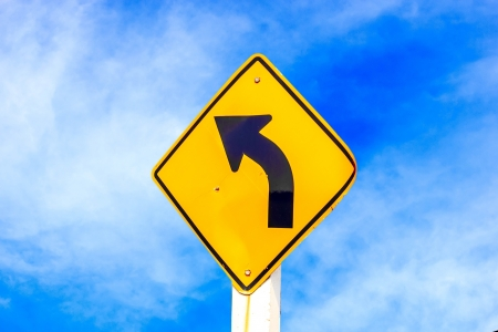 Sign go to left way on road