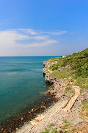 lanscape: Lanscape of sea and mountain sky Stock Photo