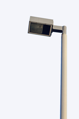 Light poles out door in sunshine it stand on road Stock Photo