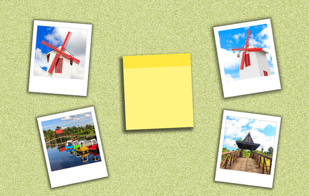 countryside series have turbine house ,resort,Pavilion and short note yellow