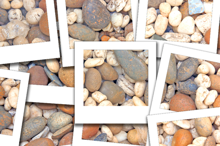 Rocks wallpaper have many shapes process instant photo style