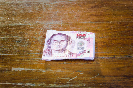 Bill 100 bath of thailland on wood floor