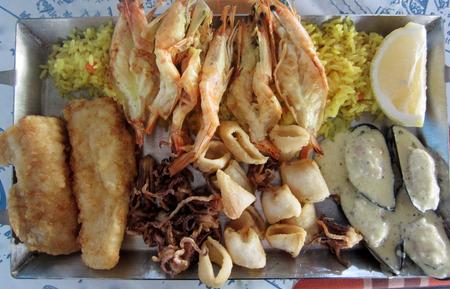 cyprus fish meze Stock fotó