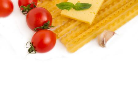 İtalyan mutfağı: Makarna İtalyan Mutfağı. Stok Fotoğraf